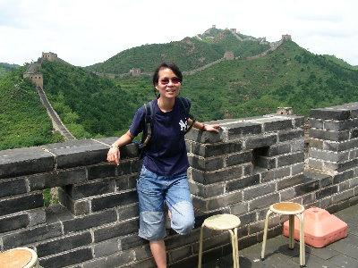 08年到北京看奧運在長城上留影